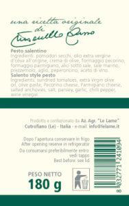 pesto salentino etichetta